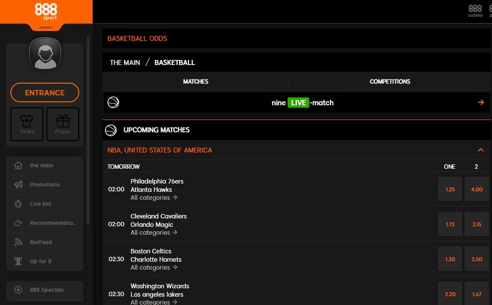 888sport-betting Basketball