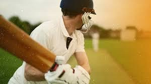 Cricket match player